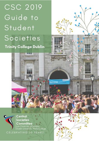 CSC Freshers Guide 2019 by Trinity College Dublin - Student