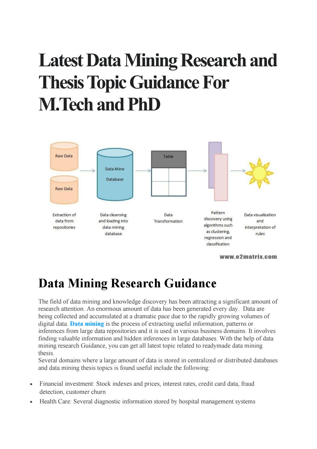 data mining thesis for m tech