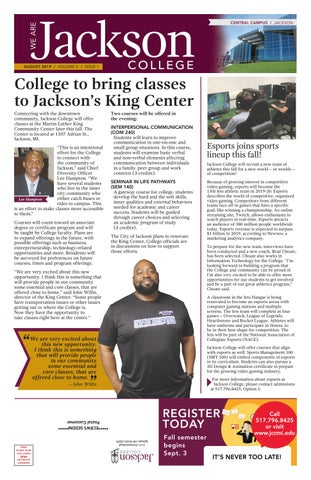 We are Jackson College - August 2019 by Jackson College - issuu