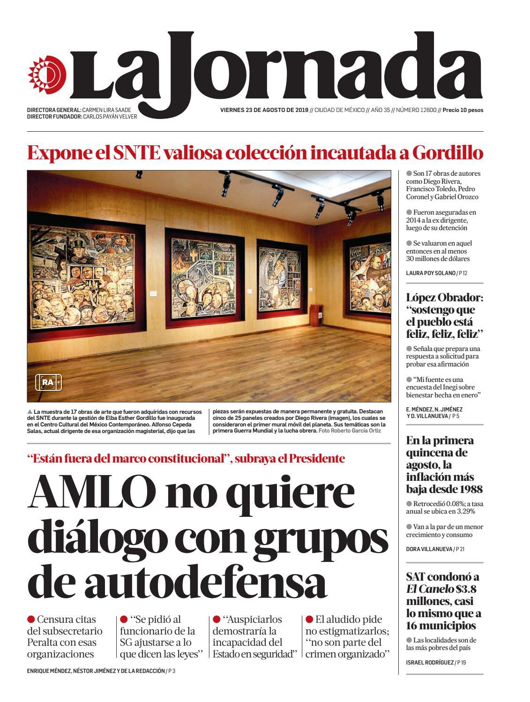 La Jornada, 08/23/2019 by La Jornada - issuu