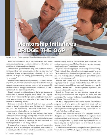Page 10 of Mentorship Initiatives: Bridge the Gap
