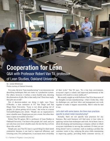 Page 12 of Cooperation for Lean