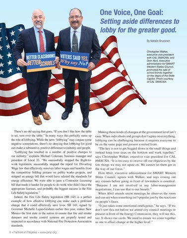 Page 8 of One Voice, One Goal: Setting aside differences to lobby for the greater good.