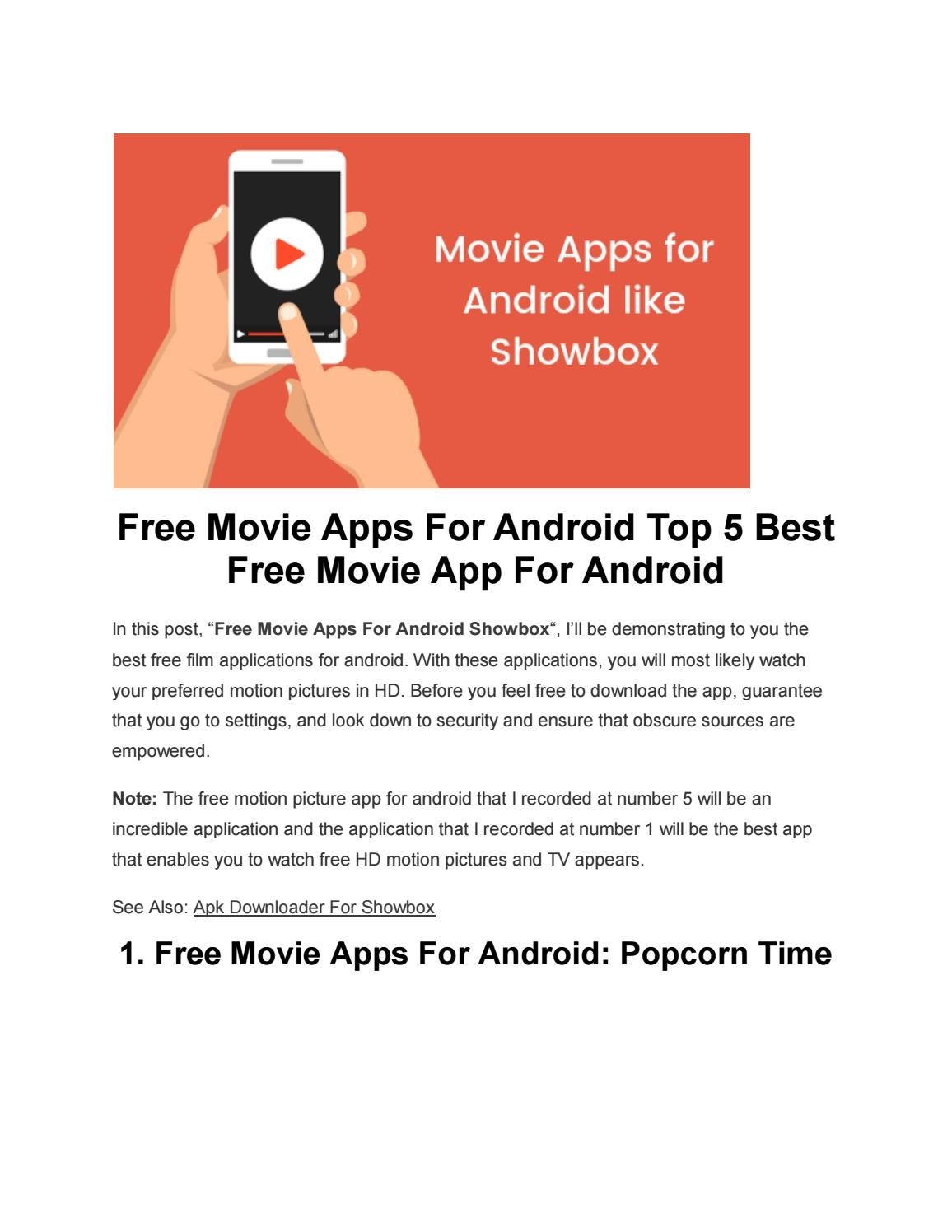 Free Movie Apps For Android Top 5 Best Free Movie App For Android By Apk Downloading Issuu