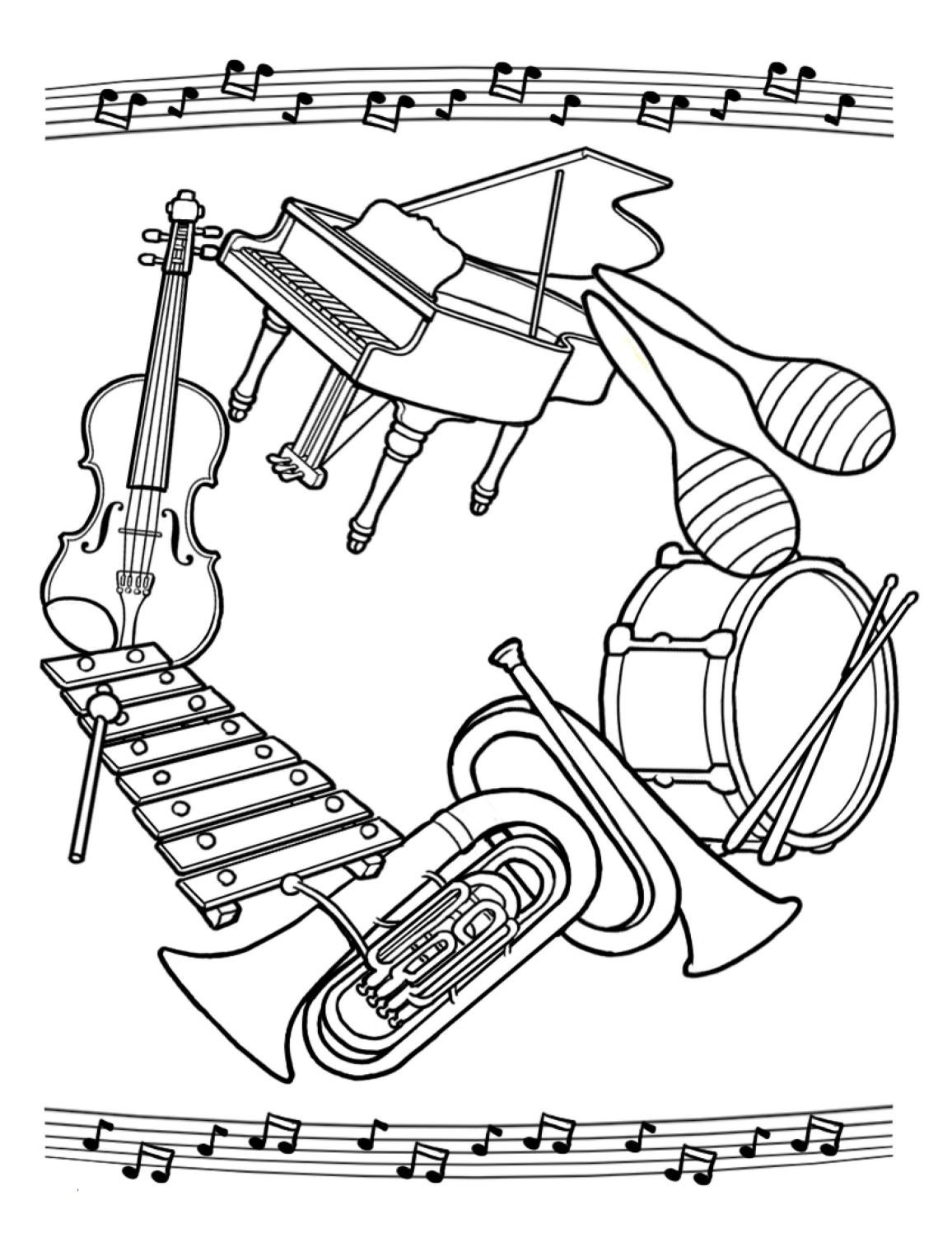 - Musical Instruments Coloring Page By Admiral Theatre - Issuu