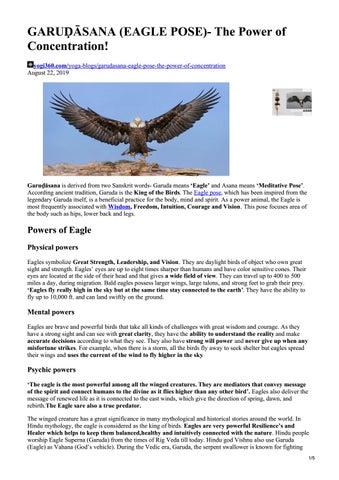 garuḌĀsana eagle pose the power of concentration