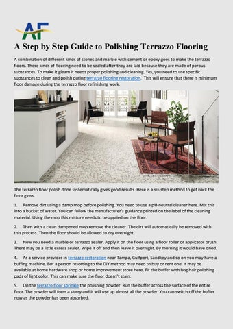 A Step By Step Guide To Polishing Terrazzo Flooring By