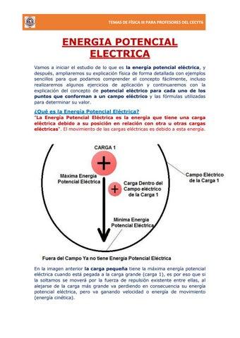 Energía Potencial y Potencial Eléctrico by prudencio - issuu