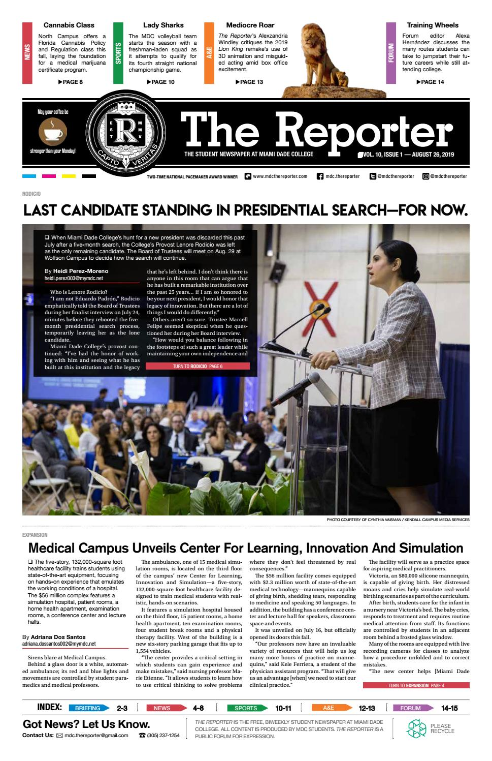 The Reporter Volume 10 Issue 1 by MDC The Reporter - issuu
