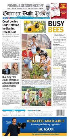 August 25 2019 Gwinnett Daily Post By Gwinnett Daily Post Issuu