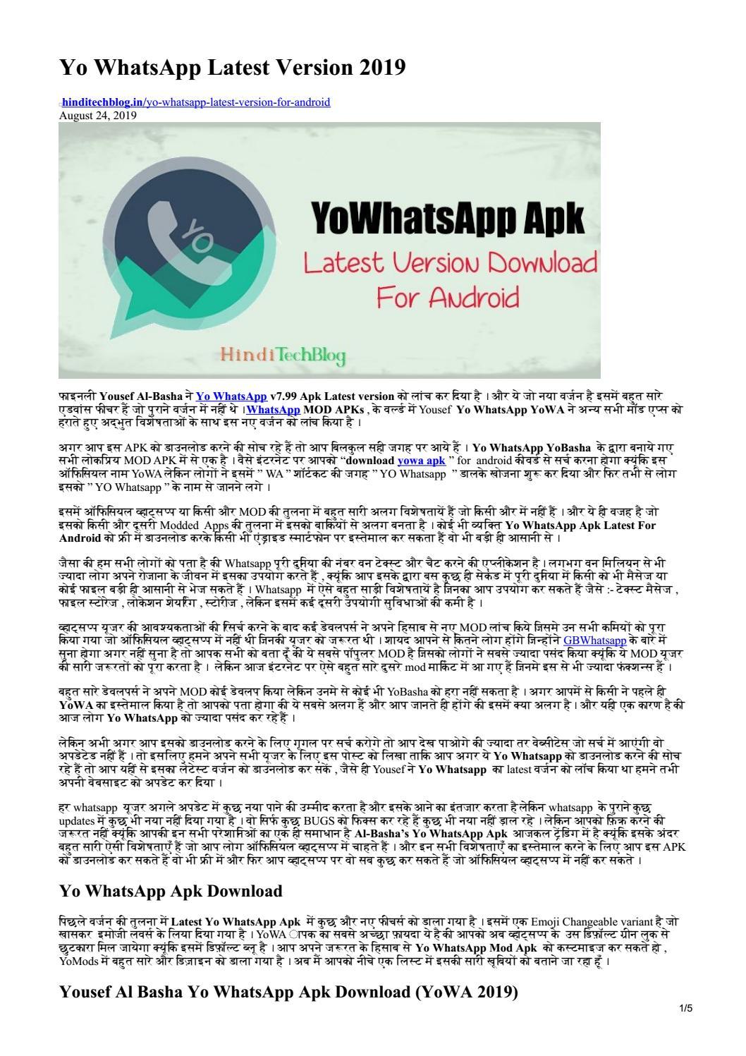 yo whatsapp 2019 download apk latest version