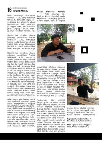 Page 16 of A. G. Sudibyo: Menyambut Mahasiswa Baru dengan Harmoni