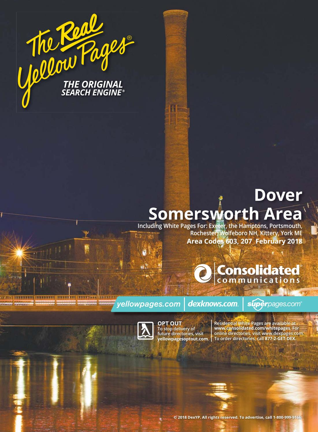 dover and somersworth area 2018-2019 yellow pages by mason