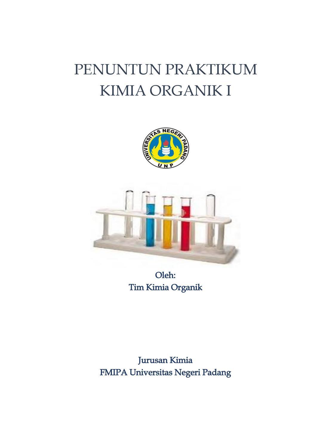 Penuntun Praktikum Kimia Organik 1 By Adli Hadiyan Issuu