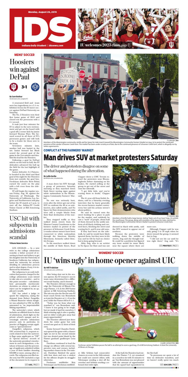 Monday, August 26, 2019 by Indiana Daily Student - idsnews