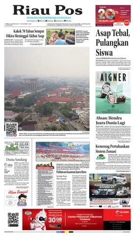 Riau Pos Edisi Senin 26 Agustus 2019 By Riau Pos Issuu