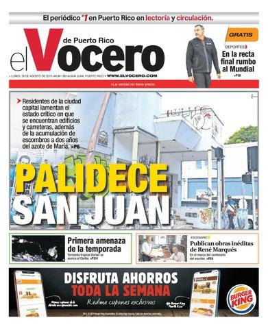 Edición del 26 de agosto de 2019 by El Vocero de Puerto Rico