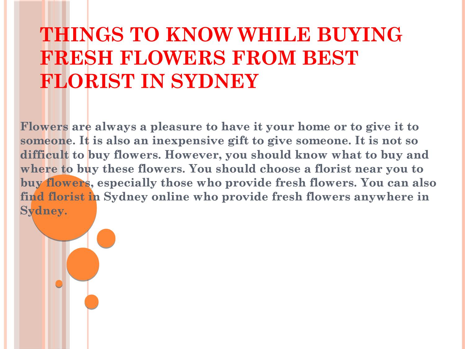 Things To Know While Buying Fresh Flowers From Best Florist