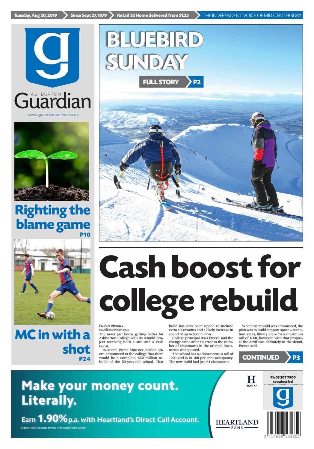 Ashburton Guardian, Tuesday, August 20, 2019 by Ashburton