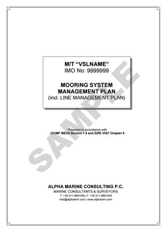 New VIQ And MEG4 Requirements For Mooring System Management