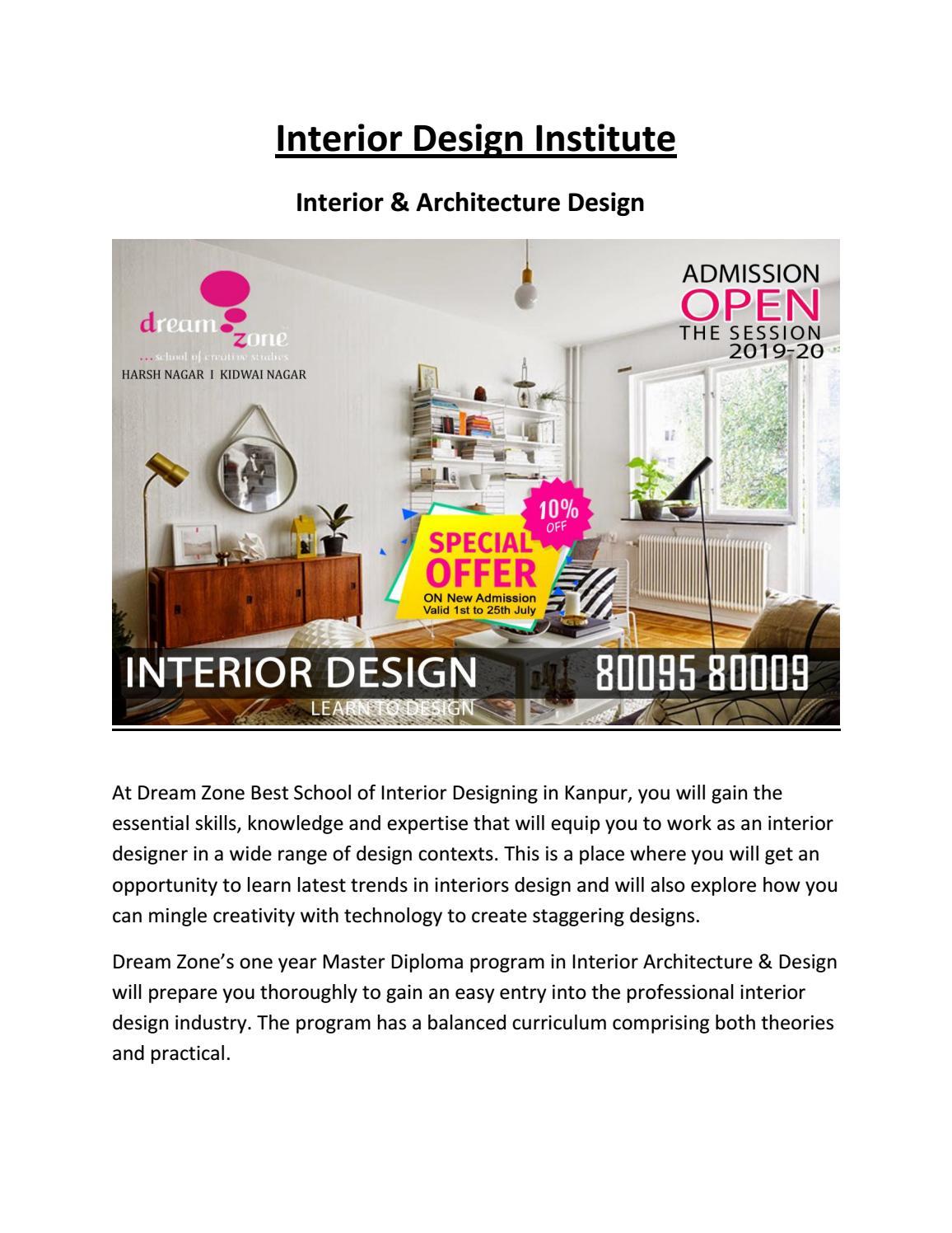 Interior Design Institute By Dreamzone Kanpur Issuu