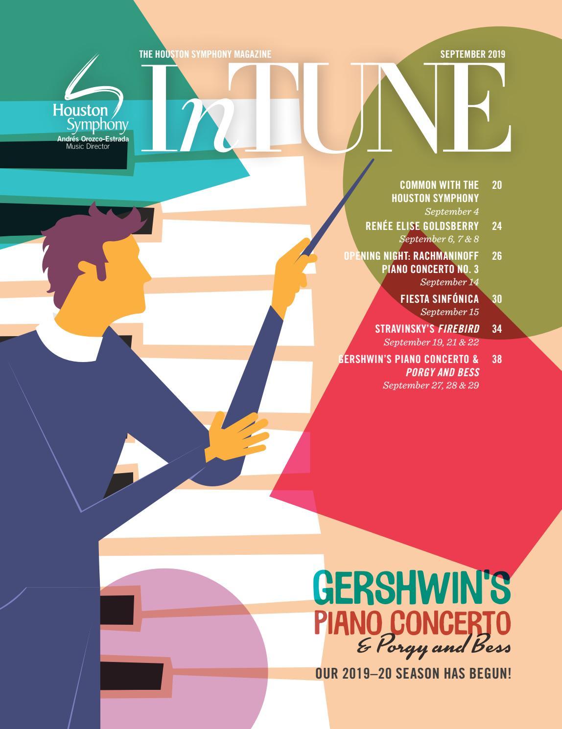 Intune The Houston Symphony Magazine September 2019 By