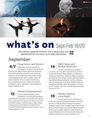 Page 35 of What's On this Fall at the Lobero Theatre
