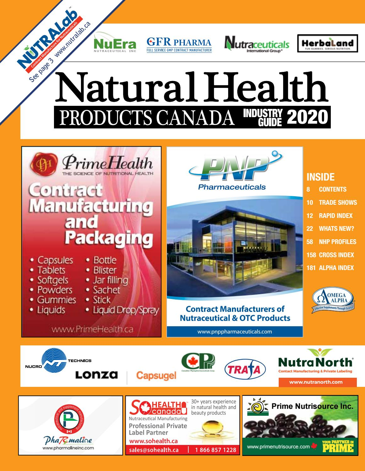Natural Health Products Industry Directory, Canada by