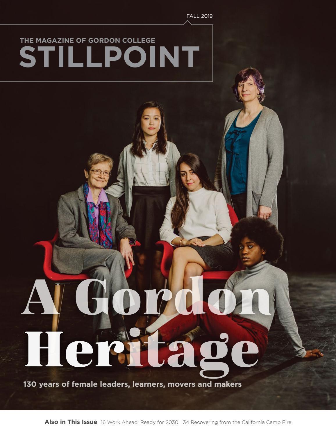 Gordon College Christmas Gala 2020 STILLPOINT Fall 2019 by Gordon College   issuu