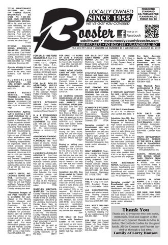 This Weeks 08 28 2019 Moody County Booster by sirbuckly issuu