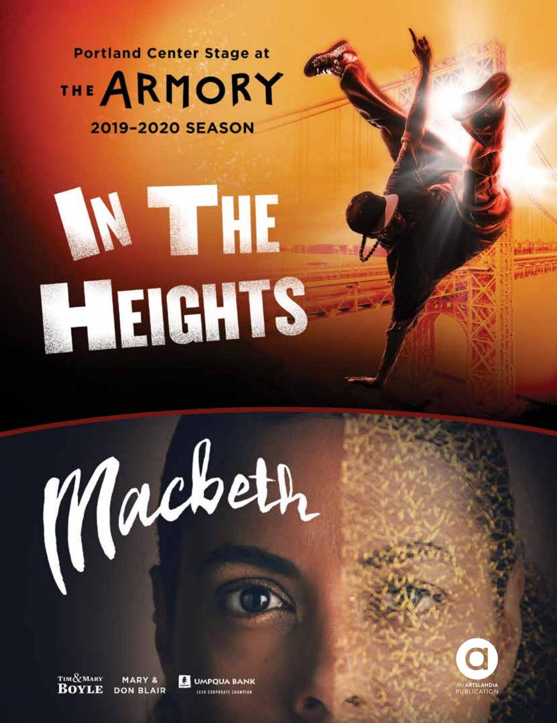 In The Heights Macbeth Portland Center Stage At The Armory By Artslandia Issuu