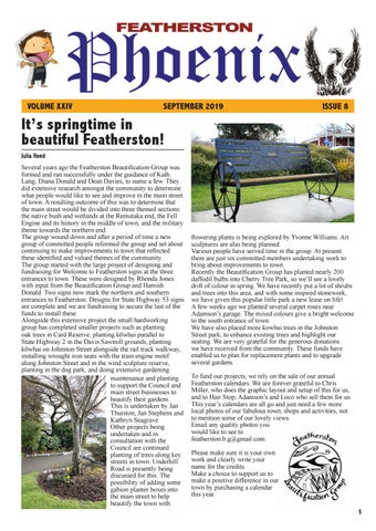 Page 1 of It's springtime in beautiful Featherston!