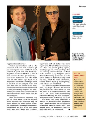 Page 107 of Partners: Will Lee and Sadowsky Guitars
