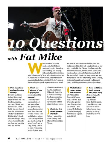 Page 6 of 10 Questions With Fat Mike of NOFX