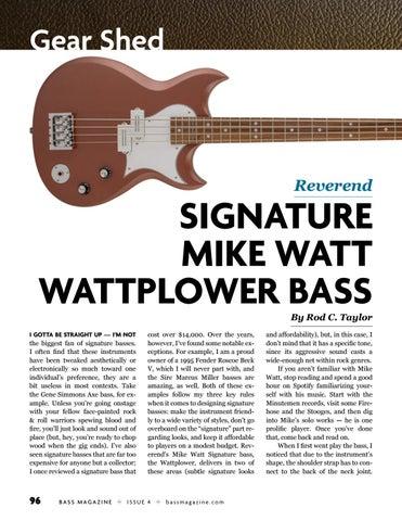 Page 96 of Review: Reverend Mike Watt Wattplower Bass