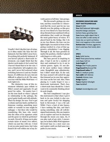 Page 97 of Review: Reverend Mike Watt Wattplower Bass