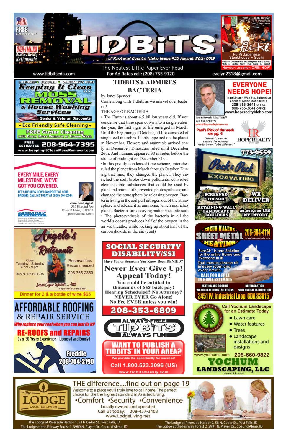 TIDBITS Issue 35 CDA Idaho 2019 By TIDBITS Kootenai County