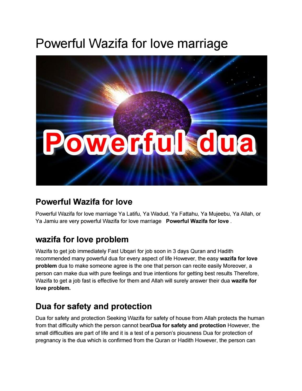 Powerful Wazifa for love marriage by duacentre - issuu