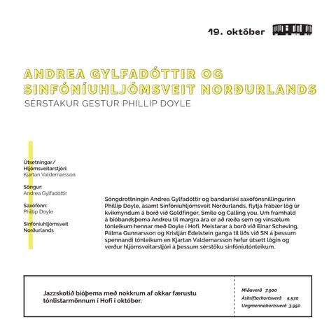 Page 11 of ANDREA GYLFADÓTTIR OG SINFÓNÍU-HLJÓMSVEIT NORÐURLANDS SÉRSTAKUR GESTUR PHILLIP DOYLE