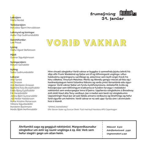 Page 15 of VORIÐ VAKNAR
