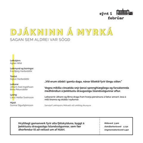 Page 17 of DJÁKNINN Á MYRKÁ - SAGAN SEM ALDREI VAR SÖGÐ