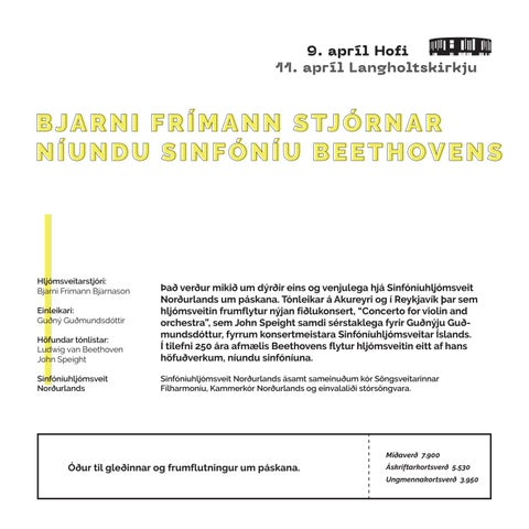 Page 19 of BJARNI FRÍMANN STJÓRNAR NÍUNDU SINFÓNÍU BEETHOVENS