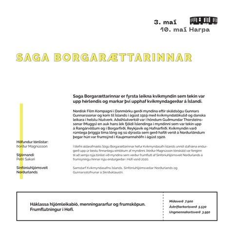 Page 21 of SAGA BORGARÆTTARINNAR