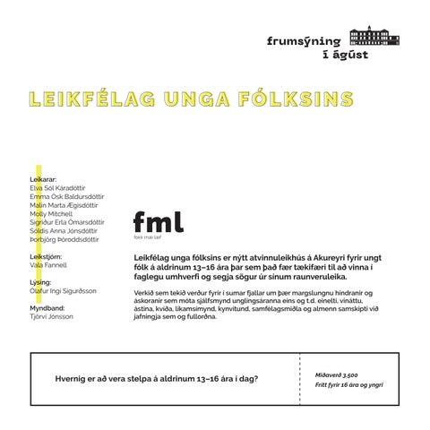 Page 5 of LEIKFÉLAG UNGA FÓLKSINS - fml