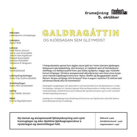 Page 9 of GALDRAGÁTTIN OG ÞJÓÐSAGAN SEM GLEYMDIST