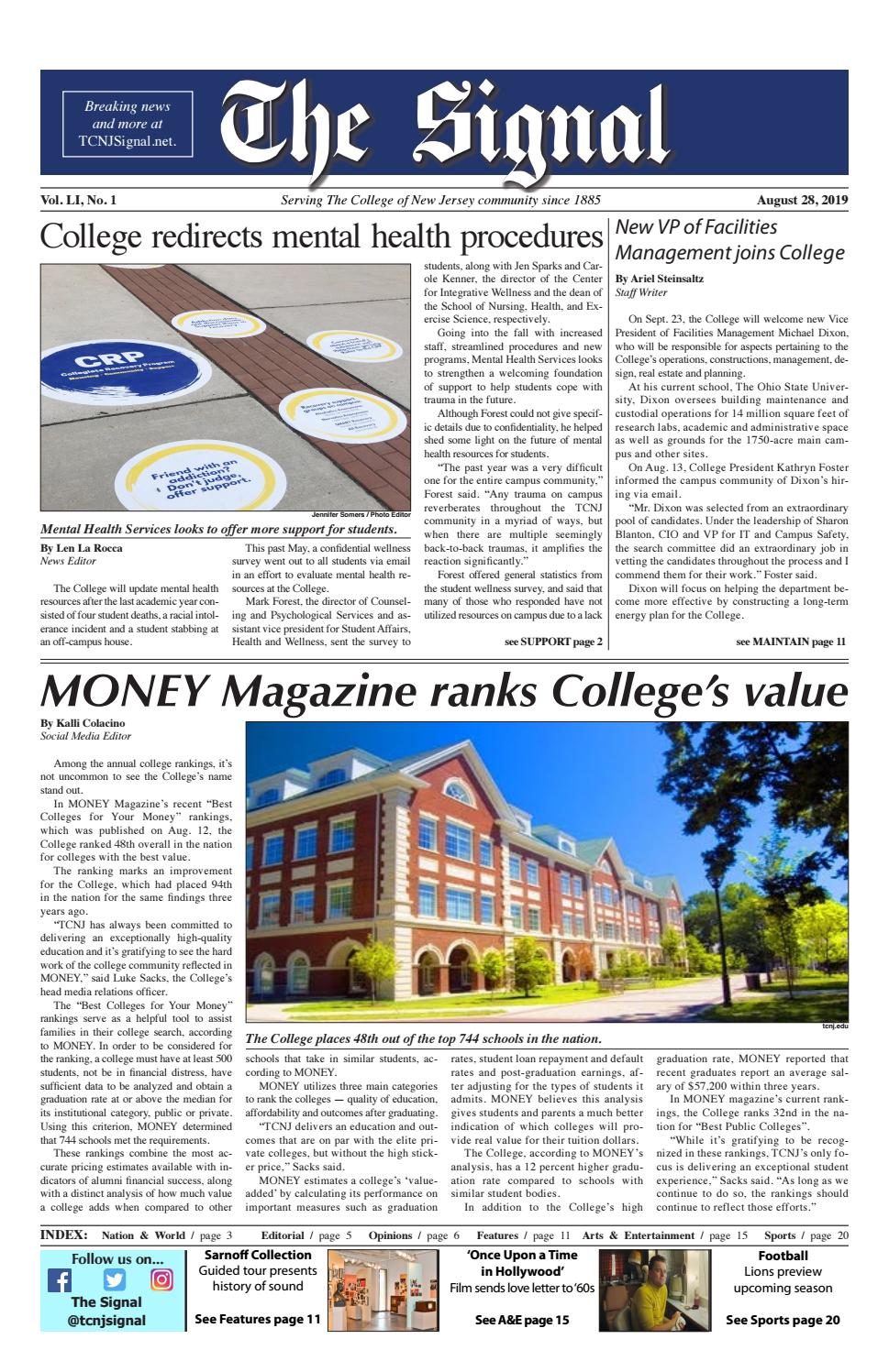 The Signal: Fall '19 No  1 by TCNJ Signal - issuu