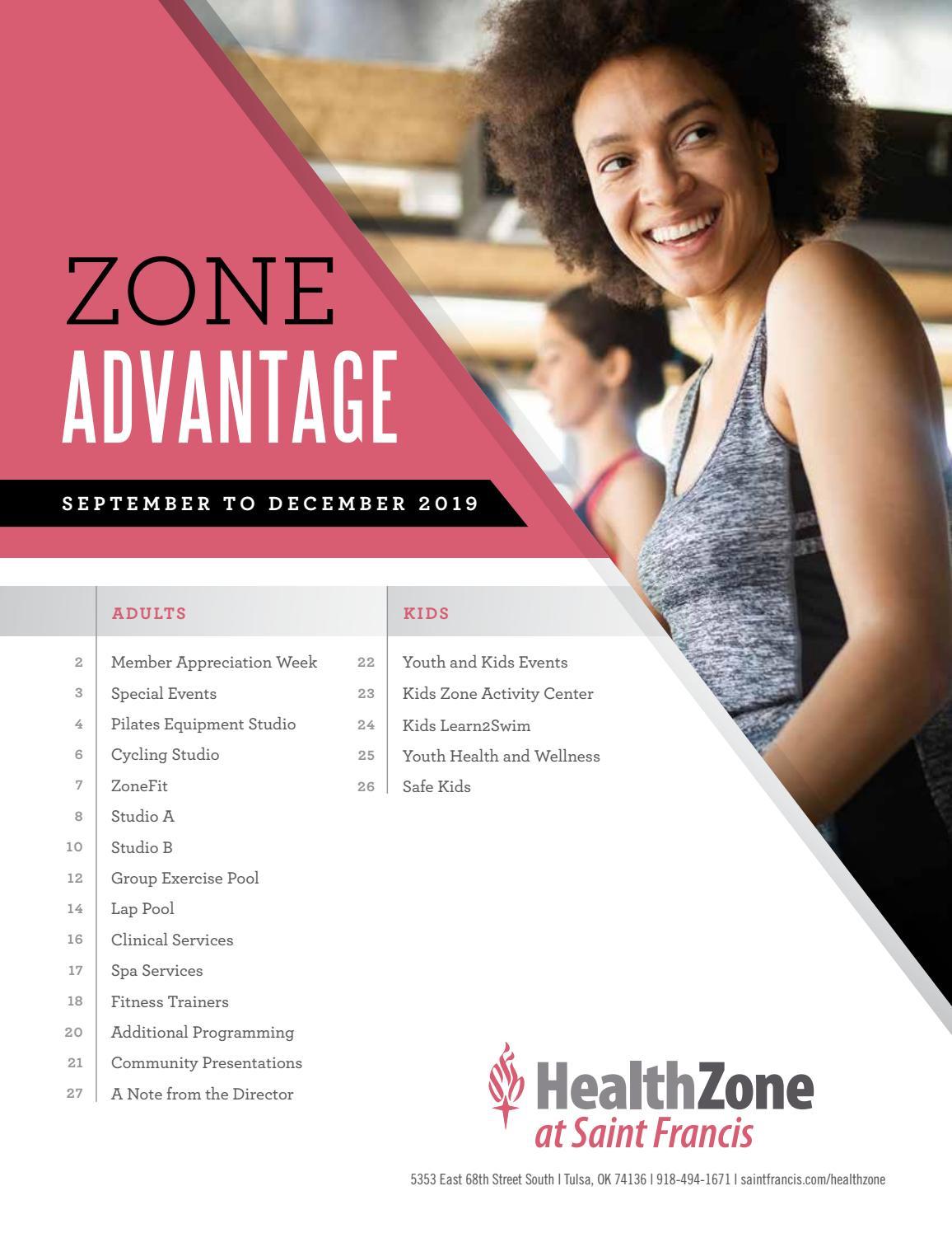 Health Zone's Zone Advantage - Fall 2019 by Saint Francis