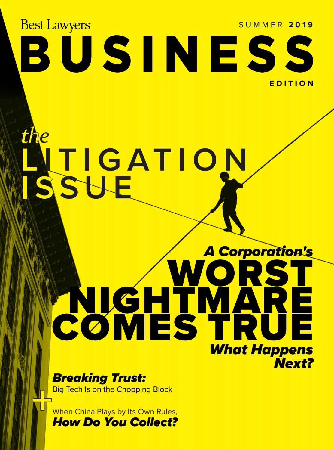 Best Lawyers Summer Business Edition 2020 By Best Lawyers Issuu