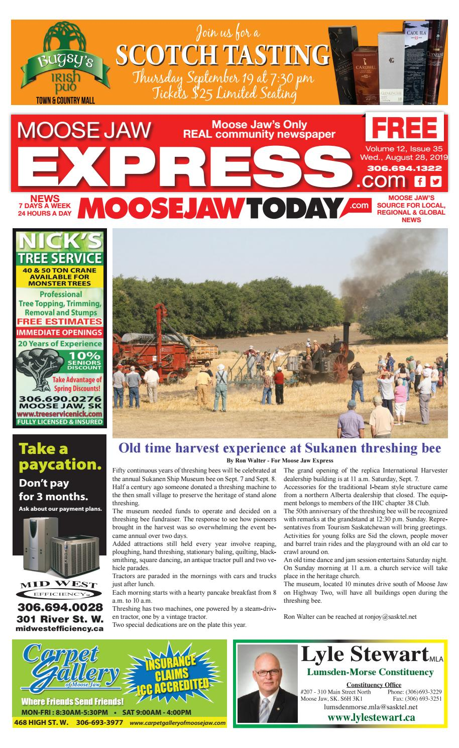 Moose Jaw Express August 28, 2019 by Moose Jaw Express - issuu
