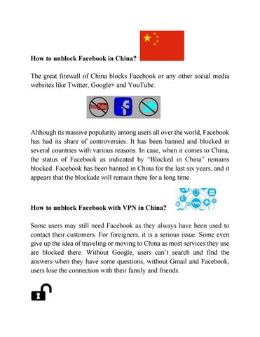 Unblock Facebook, Twitter, Google, and YouTube in China by
